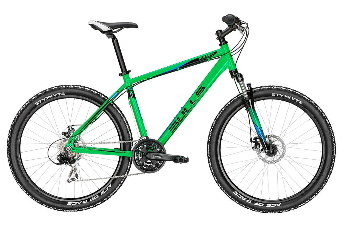Горный велосипед Bulls Pulsar Eco Disc (2016), Цвет Зеленый, Размер 22