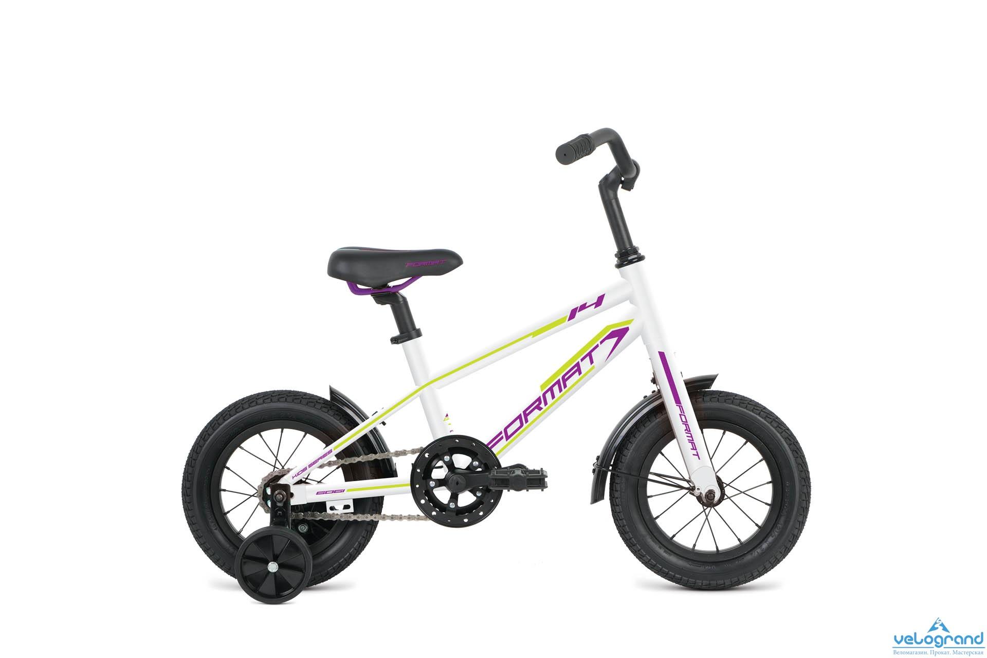 Детский велосипед Format Girl 14 (2016), Цвет Белый