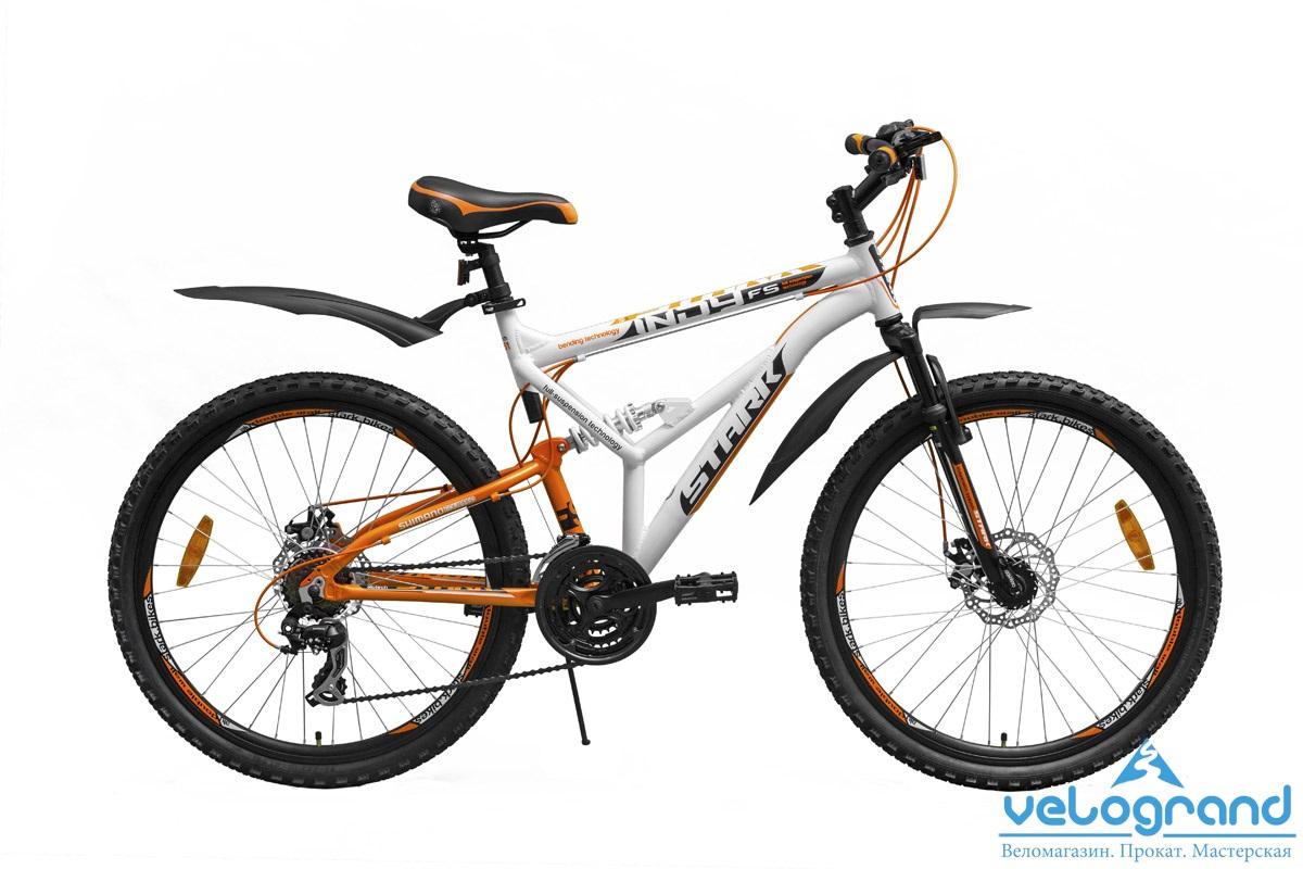 Велосипед двухподвес Stark Indy FS (2015), Цвет Черно-Оранжевый, Размер 17