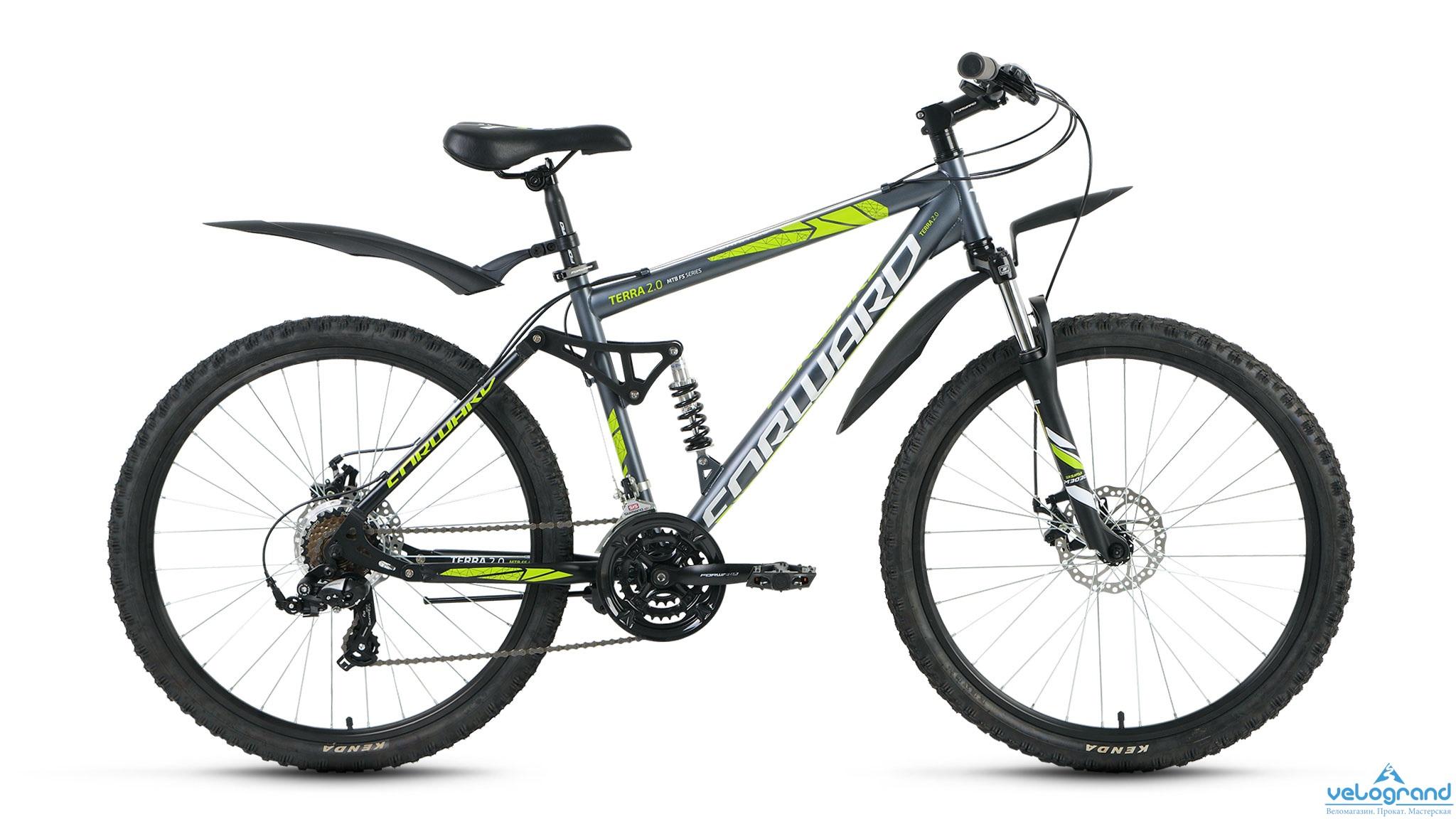 Велосипед двухподвес Forward Terra 2.0 disc (2016), Цвет Серый, Размер 18