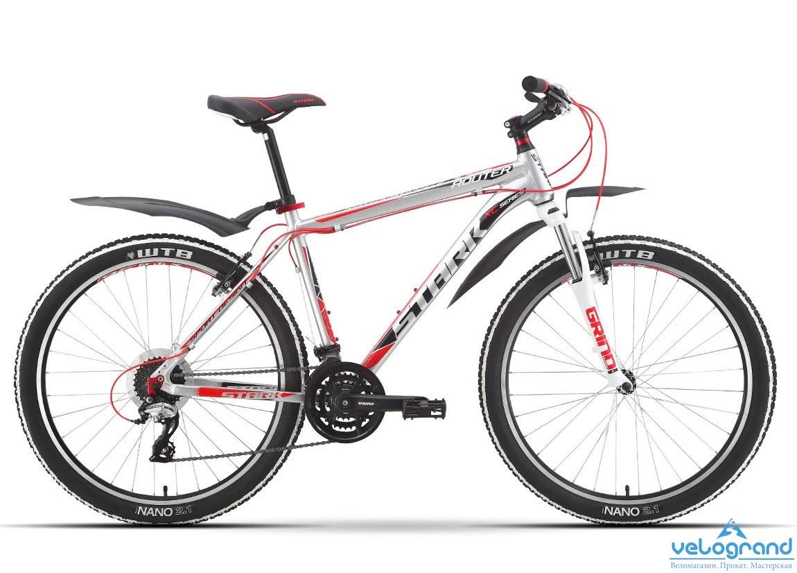Горный велосипед Stark Router (2016), Цвет Бело-Красный, Размер 18