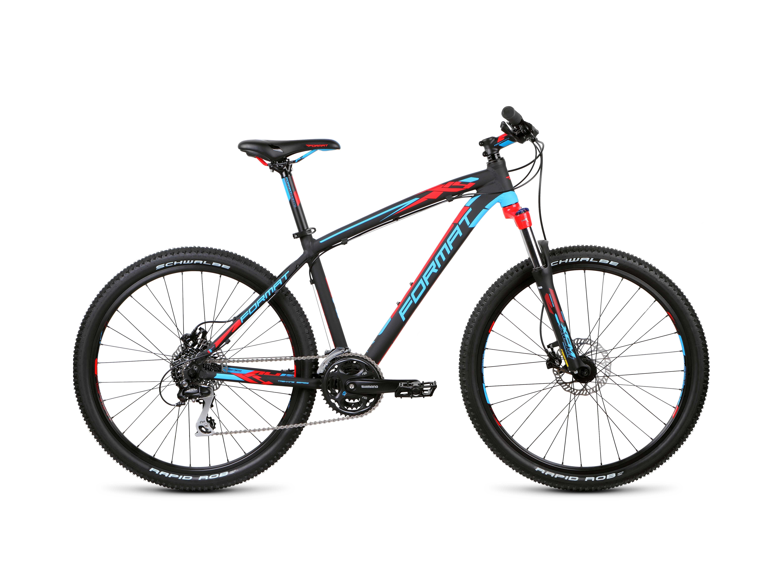 Горный велосипед Format 1412 26 (2015), Цвет Черно-Синий, Размер 16