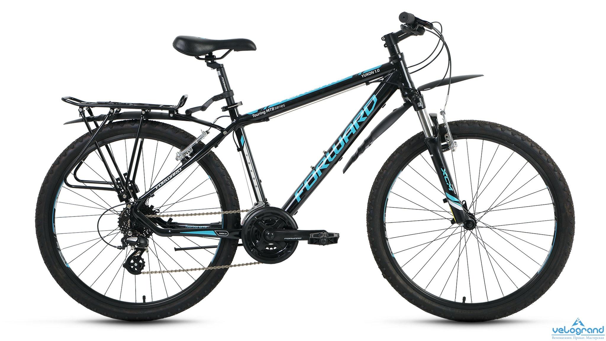 Комфортный велосипед Forward Yukon 1.0 (2016), Цвет Черный, Размер 17