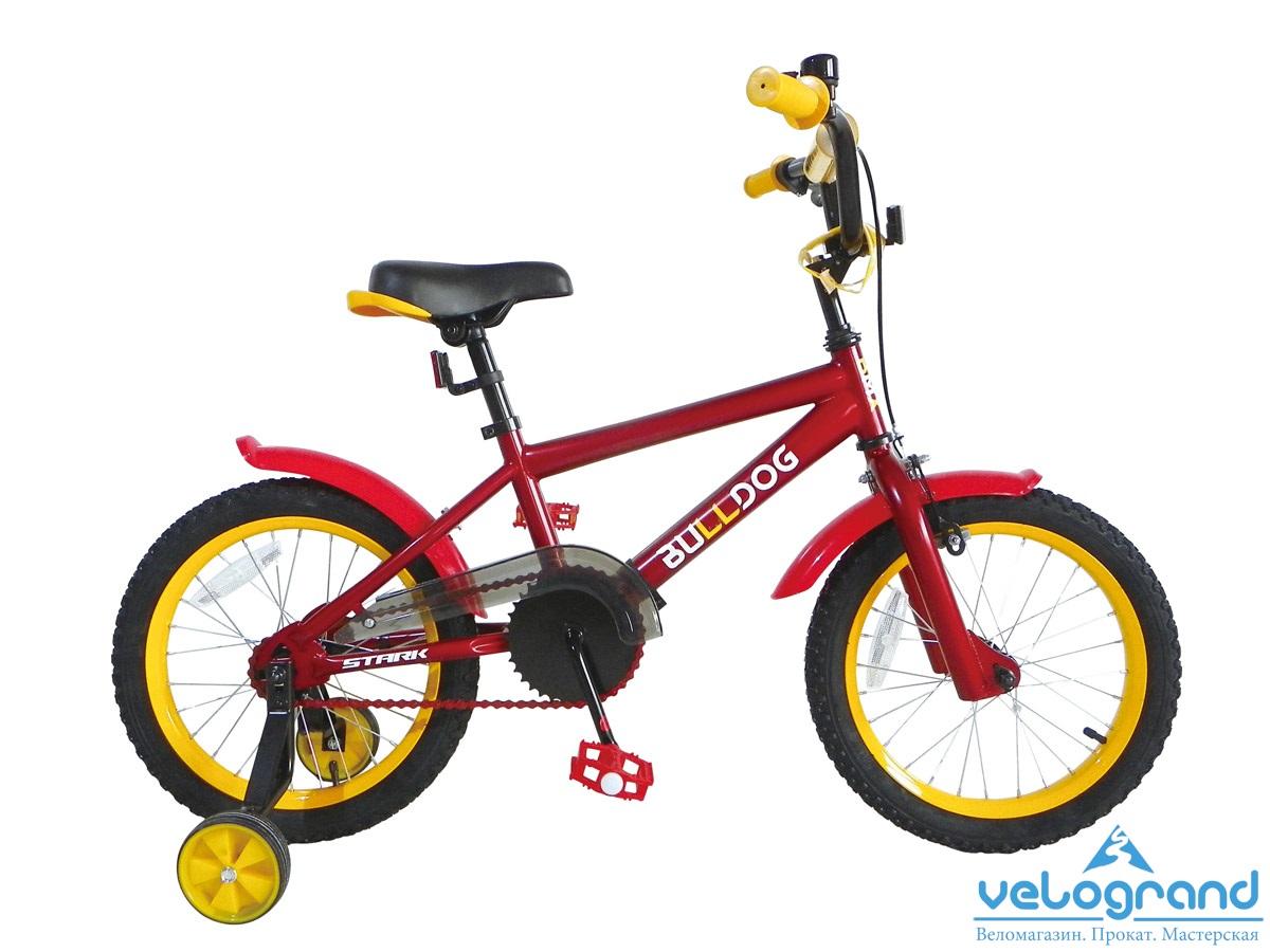 Детский велосипед Stark Bulldog boys 16 (2015), Цвет Черно-Оранжевый