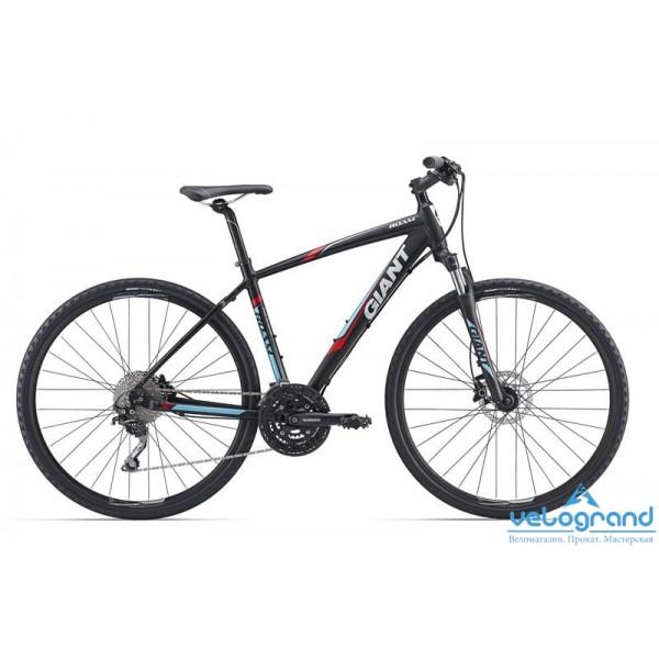 Городской велосипед Giant Roam 1 Disc (2016)Рама<br><br><br><br>Размеры<br>S, M, L, XL<br><br><br>Цвета<br>Black<br><br><br>Рама<br>Giant ALUXX-Grade Butted Aluminum<br><br><br>Вилка<br>SR Suntour NEX HLO 700C, 63mm Travel<br><br><br><br><br><br><br><br><br>Компоненты<br><br><br><br>Руль<br>Giant Connect, Low Rise 31.8mm<br><br><br>Вынос<br>Giant Sport Alloy, 15 degree rise<br><br><br>Подседельный Штырь<br>Giant Connect 30.9<br><br><br>Седло<br>Giant Connect upright<br><br><br>Педали<br>Resin anti slip, steel cage, 9/16<br><br><br><br><br><br><br><br><br>Трансмиссия<br><br><br><br>Манетки<br>Shimano Deore, 3x10 Speed<br><br><br>Передний Переключатель<br>Shimano Deore Trekking<br><br><br>Задний Переключатель<br>Shimano Deore (Shadow)<br><br><br>Тормоза<br>Shimano M355 hydraulic disc, 160mm rotors<br><br><br>Кассета<br>Shimano HG50 11-36, 10s<br><br><br>Цепь<br>KMC X10, 10s<br><br><br>Система<br>Shimano FC T521, 48/36/26<br><br><br>Каретка<br>Shimano Hollowtech II<br><br><br><br><br><br><br><br><br>Колеса<br><br><br><br>Обода<br>Giant CR70 Wheelset, 32H/32H<br><br><br>Втулки<br>Giant CR70 Wheelset, 32H/32H<br><br><br>Спицы<br>Giant CR70 Wheelset, 32H/32H<br><br><br>Покрышки<br>Giant S-RX4 X-Road Tire, 700x40C<br><br>Модельный год: 2016<br>Производитель: Giant<br>Материал рамы: Алюминий<br>Диаметр колес: 28 дюймов<br>Количество скоростей: 30 скоростей<br>Возраст: Взрослый<br>Тип тормозов: Дисковые гидравлические<br>Страна: Нидерланды