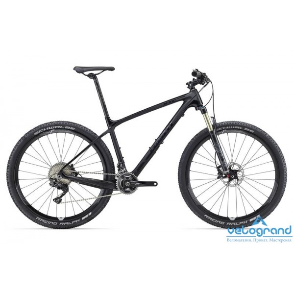 Горный велосипед Giant XtC Advanced 27.5 1 (2016), Цвет Карбон, Размер 18Рама<br><br><br><br>Размеры<br>XS, S, M, L, XL<br><br><br>Цвета<br>Comp (gloss/matt)<br><br><br>Рама<br>Advanced-grade Composite<br><br><br>Вилка<br>Fox 32 Float Performance Elite Remote, 100mm Travel, FIT4 Damper, LSC Adjust, Remote Lockout, QR15, Tapered<br><br><br><br><br><br><br><br><br>Компоненты<br><br><br><br>Руль<br>Giant Contact Trail, 19mm rise, 730 x 31.8mm<br><br><br>Вынос<br>Giant Contact, 8 degree rise<br><br><br>Подседельный Штырь<br>Giant Contact Composite, 27.2x400mm<br><br><br>Седло<br>Giant Contact Forward<br><br><br><br><br><br><br><br><br>Трансмиссия<br><br><br><br>Манетки<br>Shimano XT, 2x11<br><br><br>Передний Переключатель<br>Shimano XT<br><br><br>Задний Переключатель<br>Shimano XT (Shadow+)<br><br><br>Тормоза<br>Shimano XT [F] 160mm [R] 160mm<br><br><br>Тормозные Ручки<br>Shimano XT<br><br><br>Кассета<br>Shimano XT 11-40, 11 Speed<br><br><br>Цепь<br>KMC X11L<br><br><br>Система<br>Shimano XT, 26/36T<br><br><br>Каретка<br>Shimano PF BB<br><br><br><br><br><br><br><br><br>Колеса<br><br><br><br>Обода<br>Giant P-XCR-1C 27.5 Carbon Wheelsystem<br><br><br>Втулки<br>Giant P-XCR-1C [F] QR15 [R] 142x12<br><br><br>Спицы<br>Giant P-XCR-1C 27.5 Wheelsystem<br><br><br>Покрышки<br>Schwalbe Racing Ralph 27.5x2.1, EVO 127 EPI<br><br>Модельный год: 2016<br>Материал рамы: Карбон<br>Диаметр колес: 27.5 дюймов<br>Количество скоростей: 11 скоростей<br>Возраст: Взрослый<br>Тип тормозов: Дисковые гидравлические<br>Цвет: Карбон<br>Размер INCH: 18