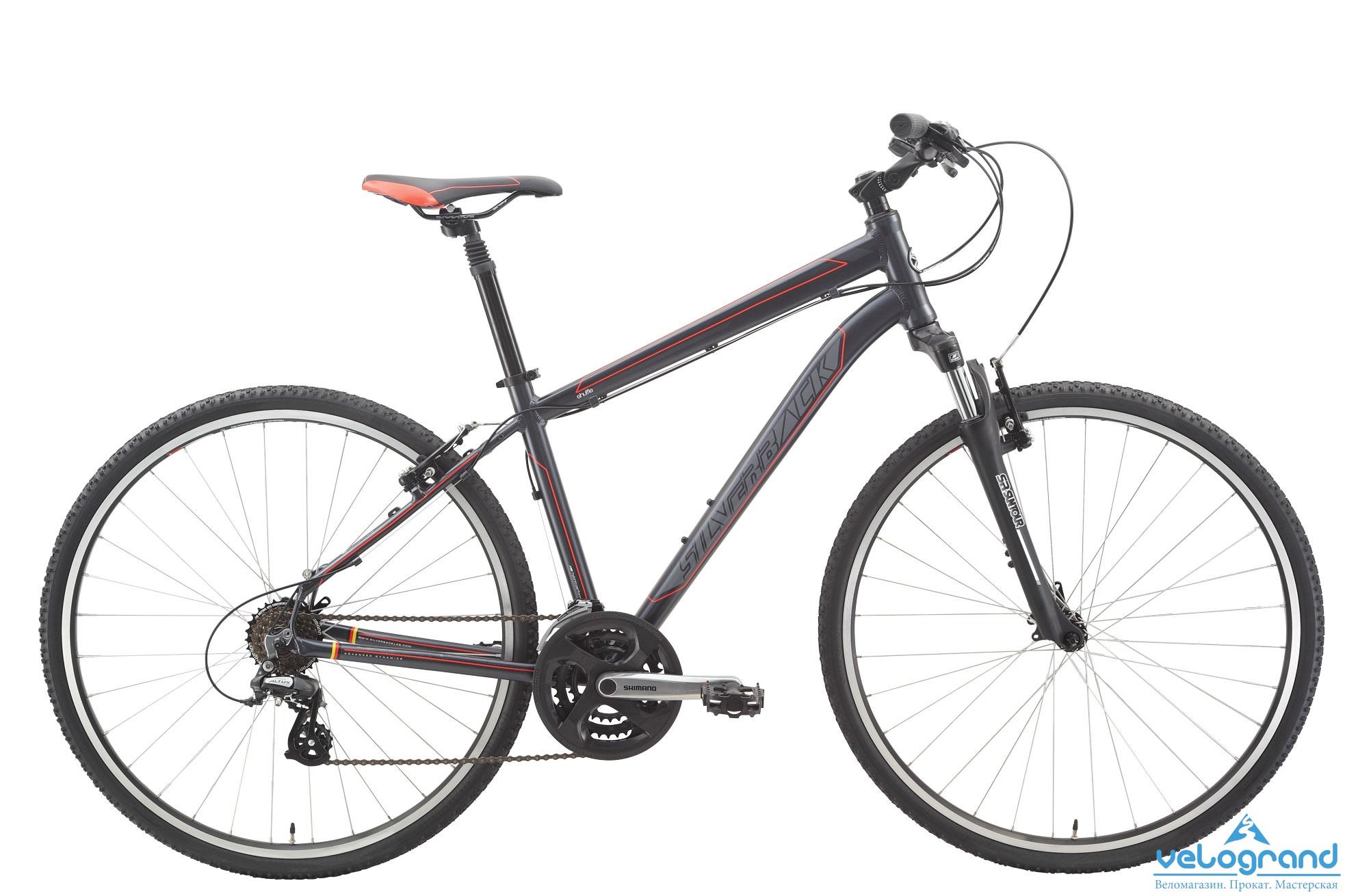 """Городской велосипед Silverback Shuffle Sport (2015)Рама<br><br>Silverback Proprietary 700c, алюминий 6061, Cross Trail, рулевая труба 1 ?"""", дропауты 135 мм QR, крепления подножки, крыльев и багажника, крепление дискового тормоза, съемный петух<br><br>Модельный год: 2015<br>Производитель: Silverback<br>Материал рамы: Алюминий<br>Диаметр колес: 28 дюймов<br>Количество скоростей: 24 скорости<br>Возраст: Взрослый<br>Тип тормозов: Ободные<br>Страна: Германия"""