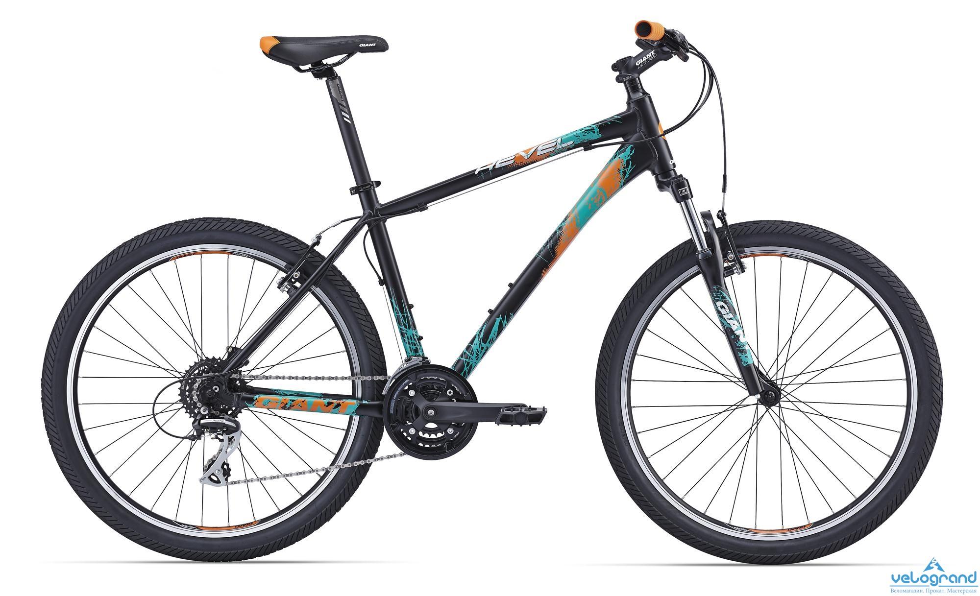 Горный велосипед Giant Revel 1 (2016)Рама<br><br><br>Размеры<br>XXS, XS, S, M, L<br><br><br>Цвета<br>Black<br><br><br>Рама<br>ALUXX-Grade Aluminum<br><br><br>Вилка<br>SR Suntour M3030 26, 75mm Travel, alloy monoque lower, coil w/ preload adjuster<br><br><br><br><br><br><br><br>Компоненты<br><br><br>Руль<br>Low Rise, 25.4mm<br><br><br>Вынос<br>Giant Sport Alloy, 15 degree rise<br><br><br>Подседельный Штырь<br>SP-214 Alloy, 30.9x350mm<br><br><br>Седло<br>Giant DJ<br><br><br>Педали<br>One-piece PP, 9/16<br><br><br><br><br><br><br><br>Трансмиссия<br><br><br>Манетки<br>Shimano EF51, 3x8 Speed<br><br><br>Передний Переключатель<br>Shimano FD-M190<br><br><br>Задний Переключатель<br>Shimano RD-M360 Acera<br><br><br>Тормоза<br>Alloy linear pull<br><br><br>Тормозные Ручки<br>Shimano EF51<br><br><br>Кассета<br>Shimano HG31 11-34, 8 Speed<br><br><br>Цепь<br>KMC Z8<br><br><br>Система<br>SR Suntour NEX, 24/34/42<br><br><br>Каретка<br>Cartridge BB<br><br><br><br><br><br><br><br>Колеса<br><br><br>Обода<br>Giant GX02 26 6061 Aluminum, Double Wall w/ CNC brake surface<br><br><br>Втулки<br>Joytech [F] 751DSE [R] 801DSE, alloy hub, double-sealed, loose ball bearing, 32H<br><br><br>Спицы<br>Stainless 14G<br><br><br>Покрышки<br>Kenda K1052 26x2.1 30TPI<br><br><br><br><br>Еще один прекрасный вариант от марки Giant - модель Revel 1. Прекрасный вариант для любителей активного отдыха. Скорость этой модели дает отличная алюминиевая рама и колеса непосредственно от производства Giant c резиной Kenda и двойными ободами. Велосипед оборудован классическими ободными тормозами. Надежное переключение скоростей обеспечивает переключатель на 24 скорости Shimano Acera, что в комплекте с амортизационной вилкой SR Suntour M3030, дает владельцу этого велосипеда возможность в полной мере получить удовольствие от катания. Не зря эта модель весьма популярна у любителей велосипедных походов.<br><br>Модельный год: 2016<br>Производитель: Giant<br>Материал рамы: Алюминий<br>Диаметр колес: 29 дюймов<br>Количество 