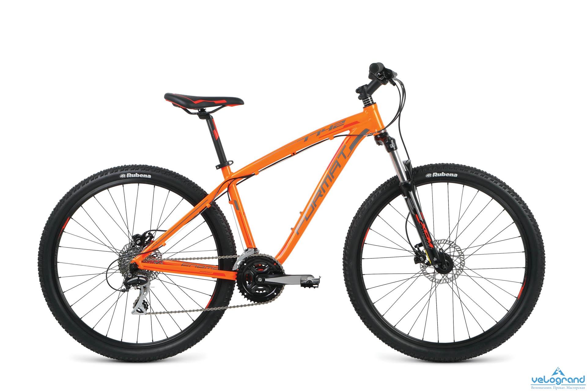Женский велосипед Format 7742 (2016), Цвет Оранжевый, Размер 18Спортивные велосипеды<br><br><br><br><br><br><br>Рама<br><br><br>Al 6061 Format custom tubing<br><br><br><br><br>Вилка<br><br><br>SR Suntour XCM HLO 100 мм, блокировка, рег. жёсткости<br><br><br><br><br>Задний амортизатор<br><br><br>-<br><br><br><br><br>Манетки<br><br><br>Shimano Altus<br><br><br><br><br>Передний переключатель<br><br><br>Shimano Altus<br><br><br><br><br>Задний переключатель<br><br><br>Shimano Alivio<br><br><br><br><br>Шатуны<br><br><br>Shimano Tourney 42/34/24t<br><br><br><br><br>Количество скоростей<br><br><br>24<br><br><br><br><br>Bтулка<br><br><br>Alloy QR<br><br><br><br><br>Покрышка<br><br><br>Schwalbe Rapid Rob, 26x2.10<br><br><br><br><br>Передний тормоз<br><br><br>Tektro HDC-300 гидр. диск. 160 мм<br><br><br><br><br>Задний тормоз<br><br><br>Tektro HDC-300 гидр. диск. 160 мм<br><br><br><br> <br> <br><br><br><br>Производство<br><br><br>Разработка: Россия. Производство: КНР (Тайвань).<br><br>Модельный год: 2016<br>Материал рамы: Алюминий<br>Диаметр колес: 27.5 дюймов<br>Количество скоростей: 24 скорости<br>Возраст: Взрослый<br>Тип тормозов: Дисковые гидравлические<br>Цвет: Оранжевый<br>Размер INCH: 18